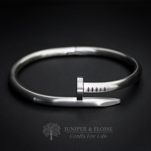 MATTE STEEL NAIL BRACELET FOR MEN