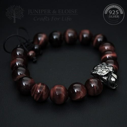 10mm Beaded Black Panther Bracelet