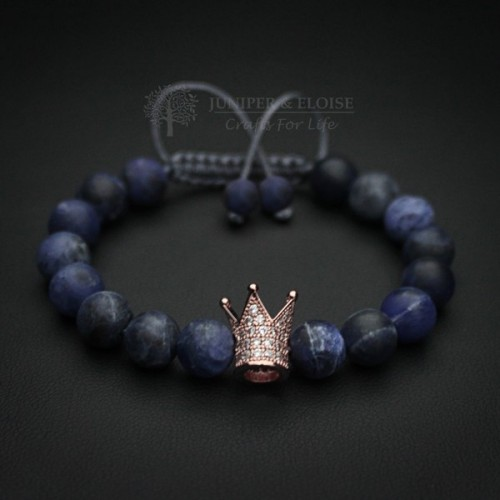 Rose Gold Zircon Crown Bracelet