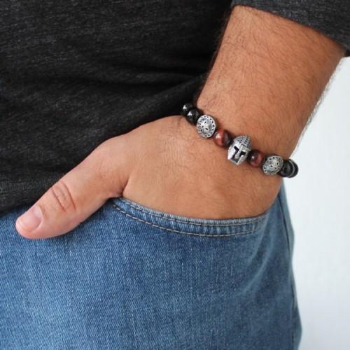 Helmet & Shield Bracelet For Men