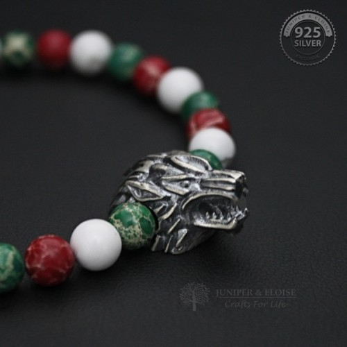 Premium Design Silver Wolf Bracelet