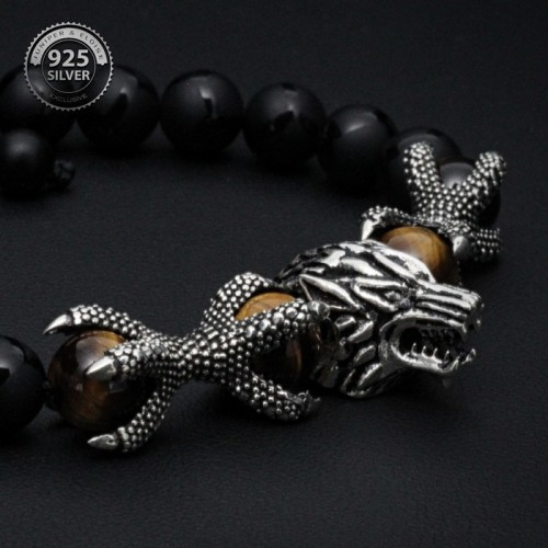 Ghost Wolf and Dragon Claws Bracelet