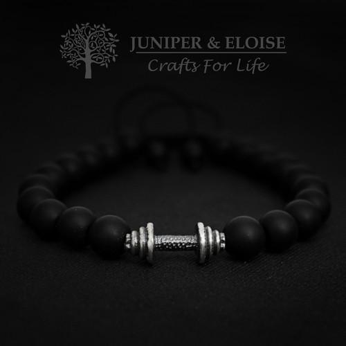 Couple Bracelets With Silver Barbell
