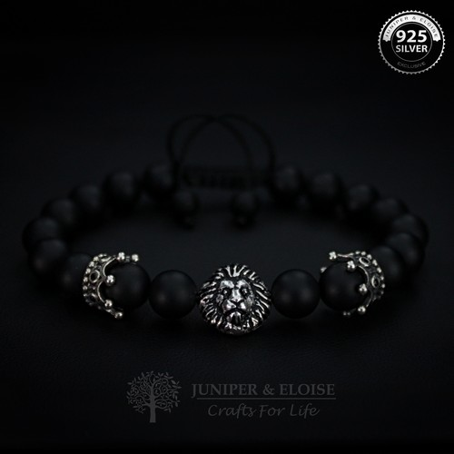 LION AND CROWN COUPLE BRACELETS