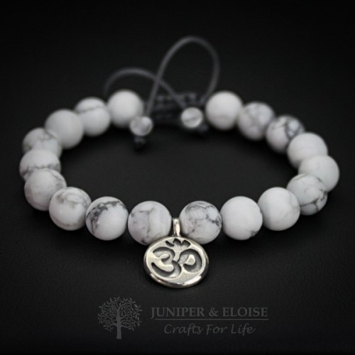 Couple Bracelets With Silver Ohm Charm
