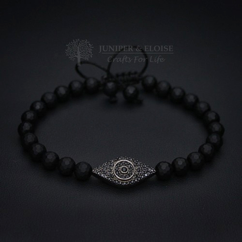 CZ DIAMIND EVIL EYE COUPLE BRACELETS
