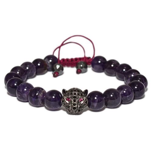 Amethyst & Jaguar Bracelet