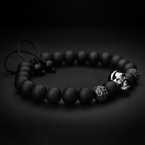 Black Dj Skull Bracelet