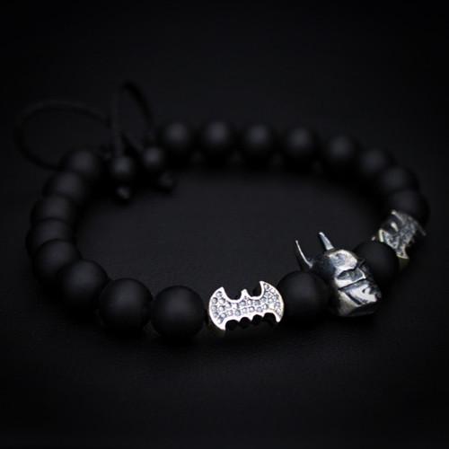 925 Silver Batman Charm Bracelet