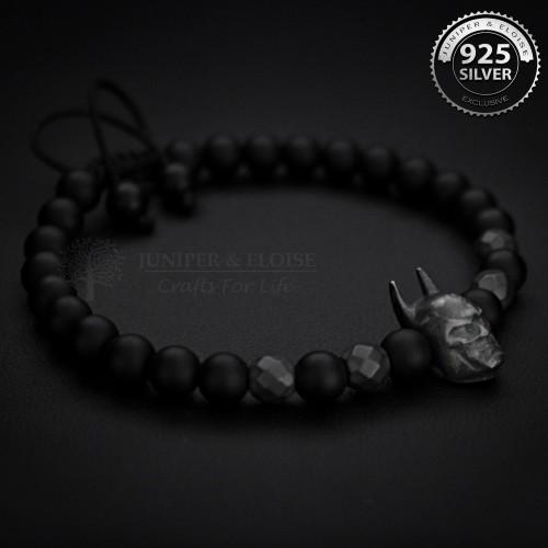 Matte Black Batman Bracelet