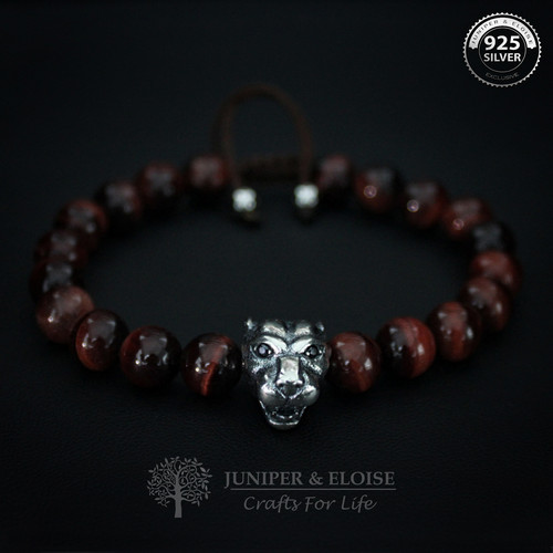 925 SILVER LION CHARM BRACELET