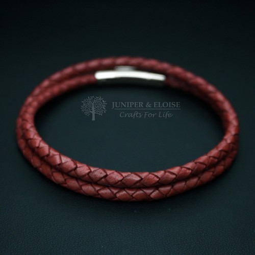 Light Red Leather  Bracelet