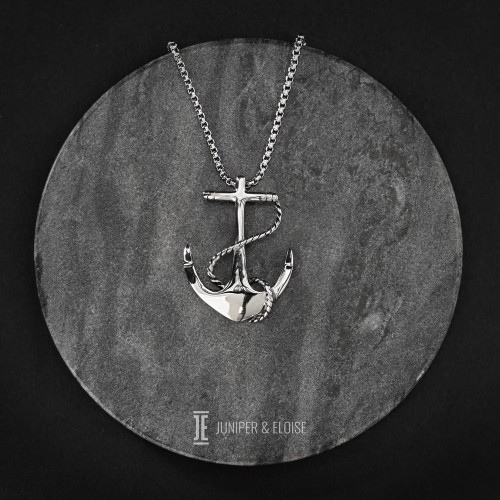 Men's Steel Anchor Necklace