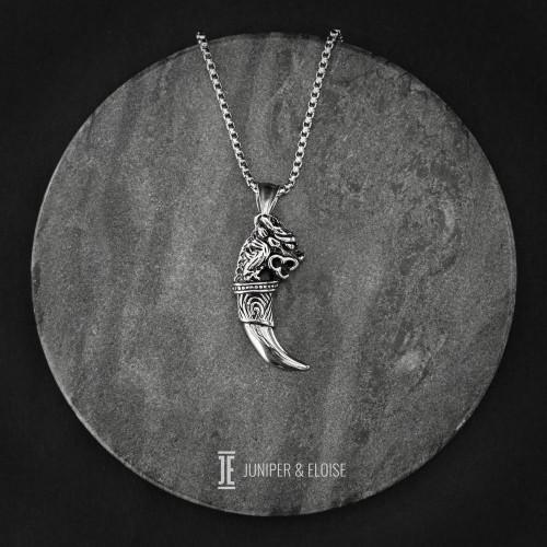 Ancient Horn Pendant Necklace For Men