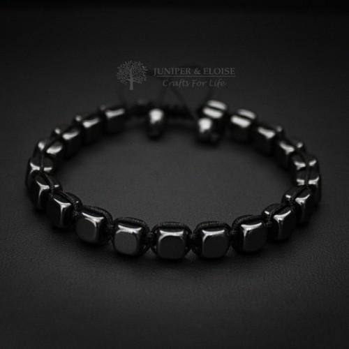 Hematite Cube Bracelet