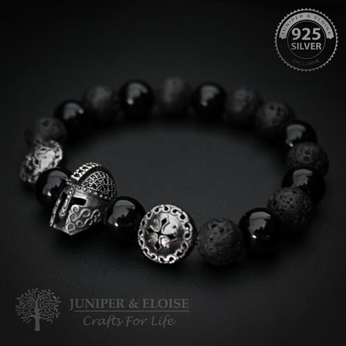 Ancient Helmet and Shield Bracelet For Men