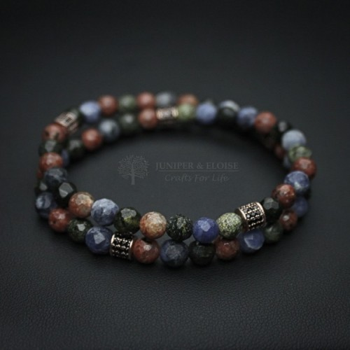 Double Layered Jasper Beaded Bracelet